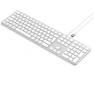 Satechi Aluminum Wired Keyboard for Mac – Silver – US (ST-AMWKS)